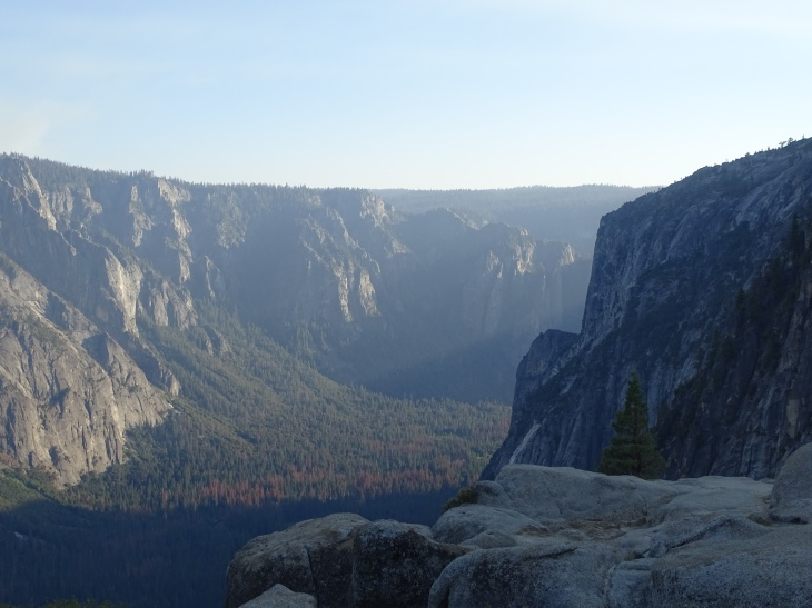 View from the top of Upper Yosemite Fall
