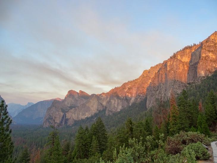 Sunset at Yosemite Valley