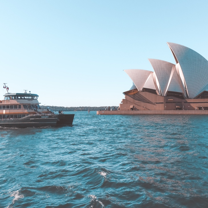 Opera House and Manly Ferry