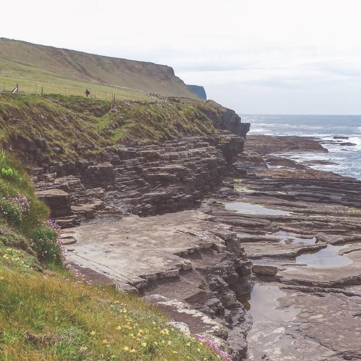 Initial part of the Doolin - Cliffs of Moher walk