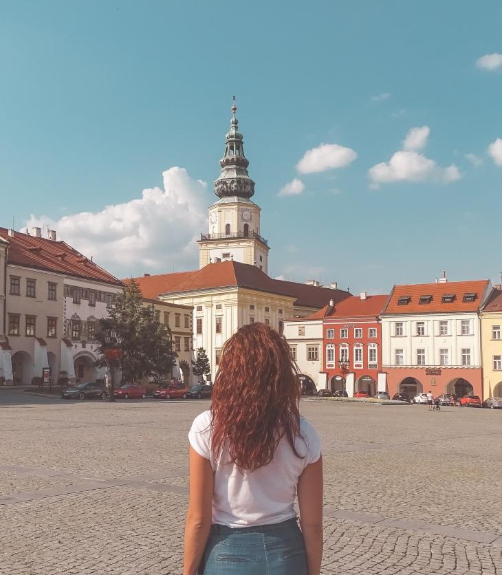 Kroměříž castle from the main square